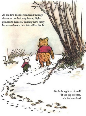winnie the pooh piglet and swine flu