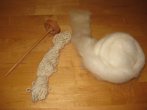 My first handspun wool.