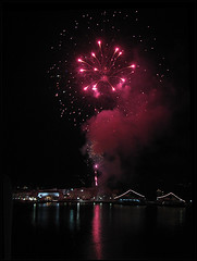 fireworks /  (alk_is) Tags: night port easter fireworks hora mykonos