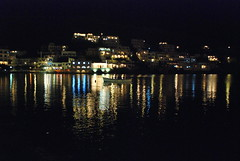 night walk by the harbour (exoticroy) Tags: blue roy colors night reflections athens greece vouliagmeni frhwofavs