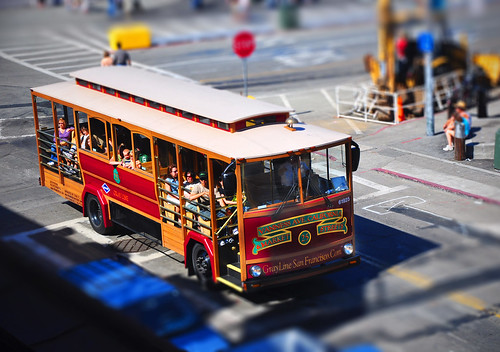 Vintage Trolley ~ Tilt-Shift