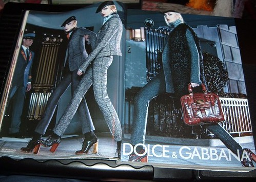 "Dolce & Gabbana ad from ""borrowed"" Vogue magazine."