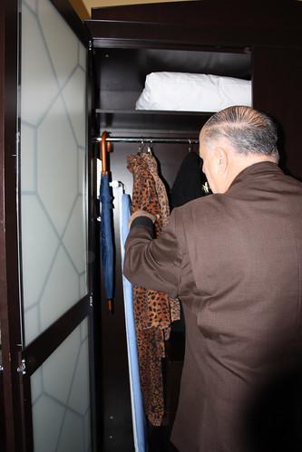 The fancy bathrobe at the Hotel Monaco