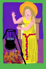 Vesta of the Hearth (anselm23) Tags: painting fire image icon brushes hearth app pagan iphone vesta
