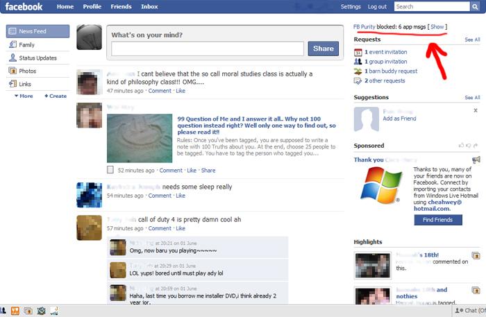 Facebook Purity Snapshot