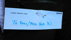 I can teach you... (creativemornings) Tags: swissmiss nametags icebreaker icanteachyou conversationstarter june2009 creativemorning creativemornings