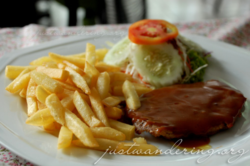 Pork steak and fries
