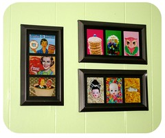 New kitchen art. (SnitchesGetStitches) Tags: art kitchen 1 frames display aceo etsy boopsiedaisy dadadreams
