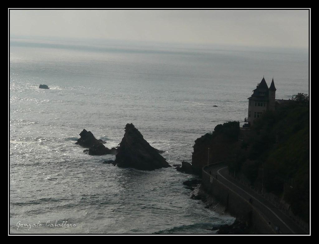 Villa Belza (Biarritz) al atardecer