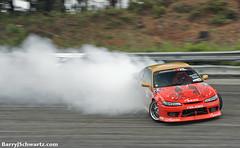 Nissan Silvia S15 (Barry J. Schwartz) Tags: 2002 blur nikon smoke silvia panning drifting drift s15 round3 formulad formuladrift wallstadium wallnj 200f2 thegauntlet d700 nikon200f2 barryjschwartz barryjschwartzcom 200f20 formuladriftthegauntlet formuladriftround3 formuladround3 formuladrd3 nissans15
