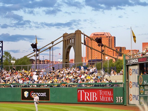 Center Field & Clemente Bridge by jmd41280.
