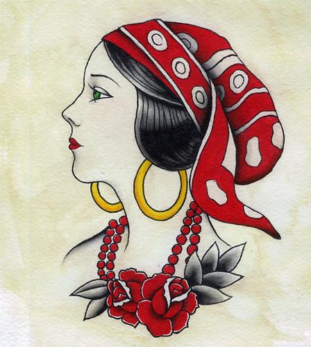 Gypsy Rose. A #39;20s girl head