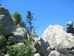 Traversée retour Apaseu - Funtanella : passage de crête rocheuse