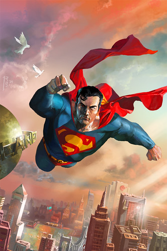 Superman_Over_Metropolis_by_RyanBarger