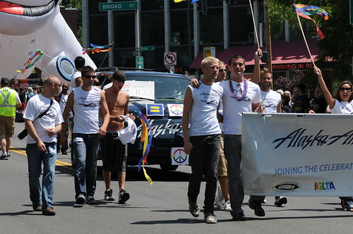 Alaska Airlines marchers in Gay Pride Parade 1