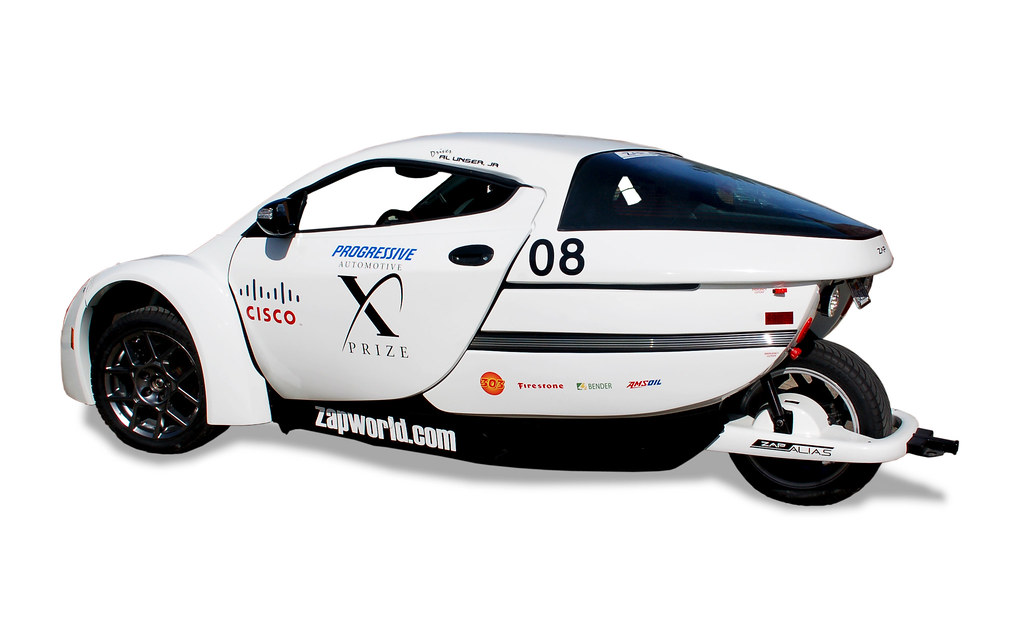 Electric Race Car called the ZAP Alias - Click Image for Slide Show