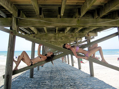 (tara_tearex) Tags: girls beach pier may northcarolina atlantic bikini pillars bestfriends canonsd780