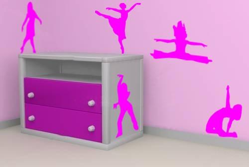 adesivos de parede rosa