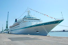 ALBATROS WITH FLAGS FORE & AFT (LeHavreShips) Tags: albatros phoenix reisen gmbh havre port paquebotslehavre cruiseshipslehavre gpmh croisireslehavre lehavrecruiseterminal terminalcroisirelehavre paquebot tourismelehavre kreuzfahrtschiff navedacrociera cruiselehavre lehavrecruise      barco de crucero navio cruzeiro  cruiseships croisires flickrcruiseships