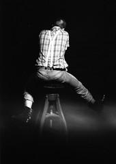 Luba (pau.czarnecka) Tags: portrait blackandwhite girl smart studio skin vel works shavedhead portret skinhead marzec topcon pipp agfaapx vraa paulinaczarnecka pauczarnecka