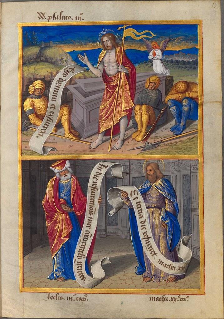15th c. illuminated manuscript: sibyllae et prophetae de Christo Salvatore vaticinantes x