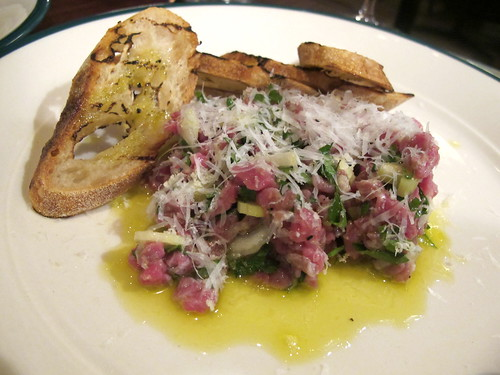 Piedmont steak tartare with pecorino and horseradish