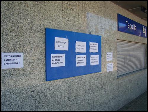 Mensajes de apoyo Getafe