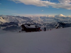 View from top of La Grande Ourse chairlift