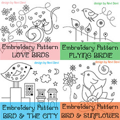 birds collection (revi1001) Tags: cute bird nature illustration birdie pattern embroidery coloring etsy revi1001