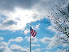 Flag Shine (Stanley Zimny (Thank You for 16 Million views)) Tags: park winter light sky sun snow clouds star shine flag nj sunburst burst skylands fiatlux