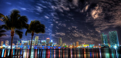 Miami Skyline (MDSimages.com) Tags: city architecture nikon nightshot florida miami citylights hdr highdynamicrange d3 photomatix miamiskyline dadecounty anawesomeshot michaelsteighner mdsimages