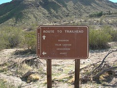 Trail sign (Mahoney Trailer Park, California, United States) Photo