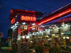 New Hyde Park Diner (Gary Burke.) Tags: ny newyork lights restaurant li neon diner longisland nassau nassaucounty newhydepark garyburke