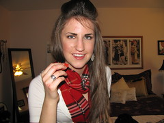 IMG_0791 (KorliW's) Tags: red white black shirt scarf beige boots kenya cream made fancy macys brunette nordstroms wal burberry leggings mart bakers