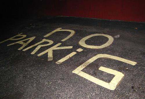 Seriously, No Parkig