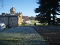 Castle Howard (MarisaJaneD) Tags: people snow tree castle mix howard evergreen distance far