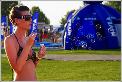 Bubbles (.:oriGnal:.) Tags: summer girl grass festival nude pentax body bubble sunglass bubork 50200 k200d balatonsound