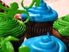 green dress green wedding dress green wedding cake photo