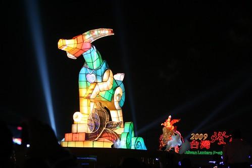 """""""2009台灣燈會在宜蘭""""--牛主燈和煙火"""
