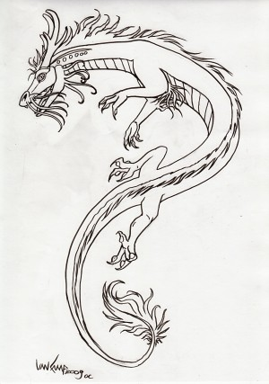 white dragon tattoo. Dragon Tattoo Design