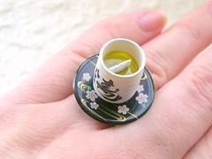Kawaii Cute Japanese Ring-Green Tea 3 (kawaii_fabric_and_paper) Tags: food cute japan japanese miniature tea unique kitsch jewelry ring kawaii matcha chunky adjustable