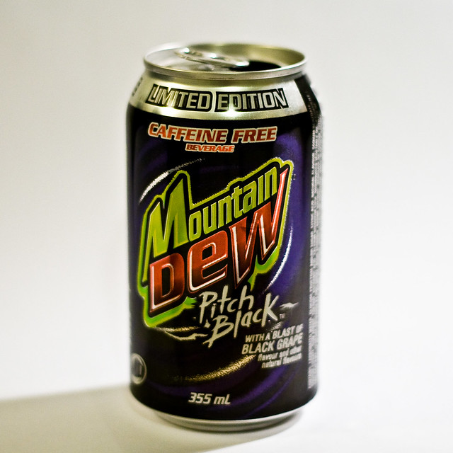 Mt Dew Pitch Black caffeine Free