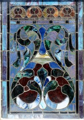 Bottom section, stained glass window, Main Street Methodist Church, Abbeville, SC, from outside, by my wife (Martin LaBar) Tags: blue abstract church window glass beautiful ventana colorful heart southcarolina iglesia stainedglass stained lovely vidriera laventana bello abbeville metodista abbevillecounty laiglesia anawesomeshot yourethebestmartin carolinadelsur