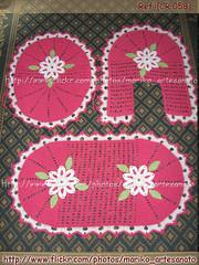 058 (Mariko Artesanato) Tags: de artesanato jogo banheiro croch barbante