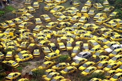 China taxi grave yard