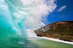 Woosh ( KristoforG) Tags: ocean beach water canon photography hawaii sand surf pacific head sandy tube wave tsunami crater shore housing custom koko tidal gellert barrell kristofor waterhousing