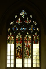 Medieval stained glass panels