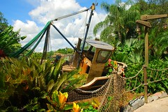 Typhoon Lagoon (PrincessAshley) Tags: trip travel autumn vacation sky cloud fall clouds fence boat orlando ship florida disney september disneyworld walkway fl wdw waltdisneyworld kissimmee waterpark 2007 disneys typhoonlagoon abandonedship disneyparks yearofamilliondreams disneystyphoonlagoon beachedship