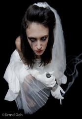 _MG_0379-Edit (Bernd Geh) Tags: bride bottle tears smoke evil alcohol disappointed drumming weddingdress tatoo