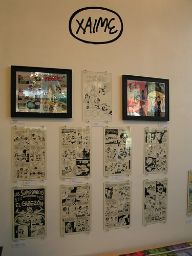 Jaime Hernandez artwork, Fantagraphics Bookstore & Gallery, 04/04/09